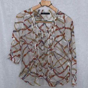 Zara women Chain Print top size S